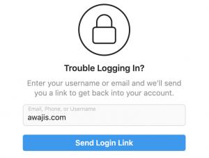 forgot instagram password